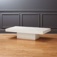 Element Rectangular Ivory Coffee Table + Reviews | CB2