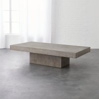 element rectangular grey concrete coffee table | CB2
