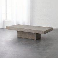 element rectangular grey concrete coffee table   CB2