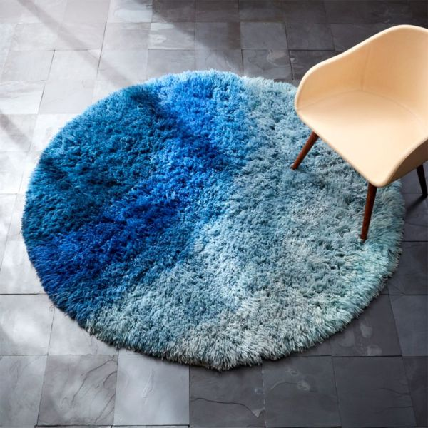 Blue Shag Rug Cb2