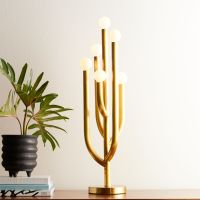 Cacti Glow Brass Table Lamp + Reviews | CB2