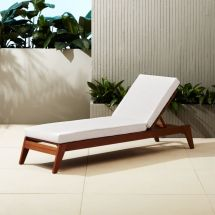 Filaki Wooden Outdoor Lounge Chair Cb2