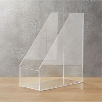 format acrylic magazine holder | CB2