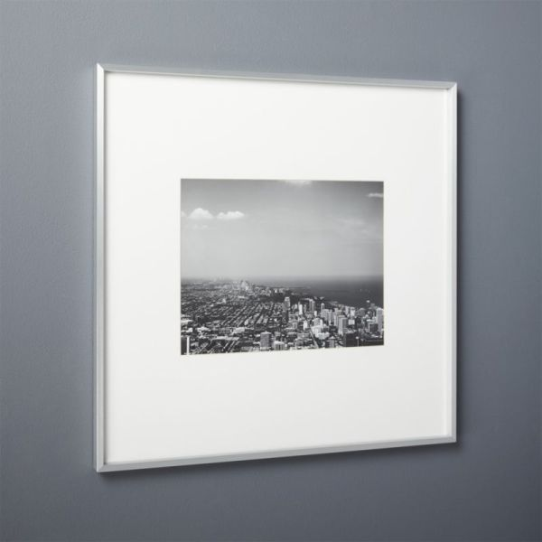 Brushed Silver 11x14 Frame Cb2