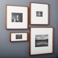 gallery walnut picture frames | CB2