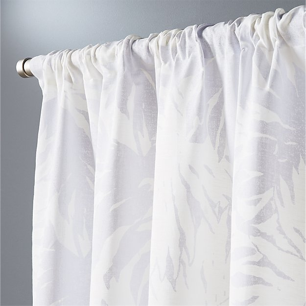 The Hill Side Palm Leaves Curtain Panel 48x84 CB2