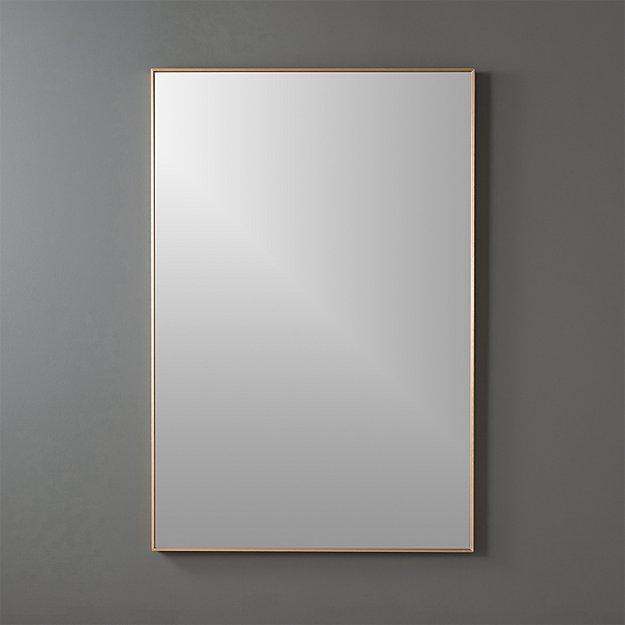 infinity brass 24x36 rectangular wall mirror  CB2