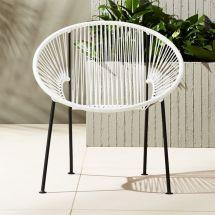 Ixtapa White Pvc Lounge Chair Cb2