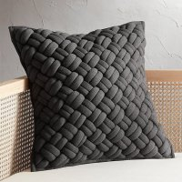 "20"" Jersey Dark Grey InterKnit Pillow"