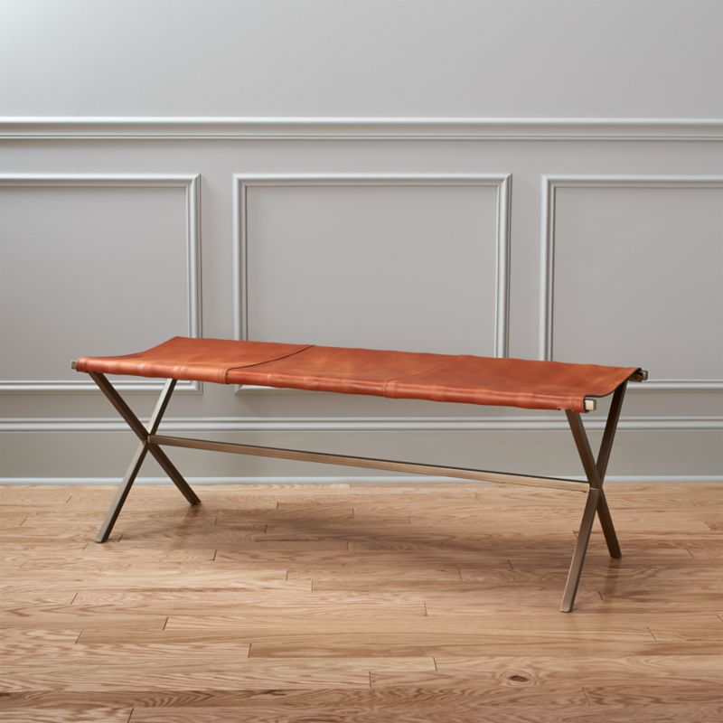 directors brown leather bench  Reviews  CB2