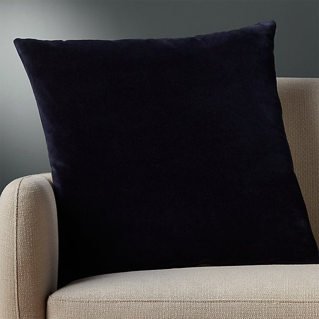 "23"" leisure navy pillow with feather"