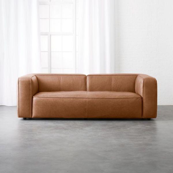 Low Profile Modern Leather Sofa
