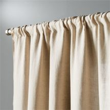 """Natural Linen Curtain Panel 48""""x108"""" In Curtains"""