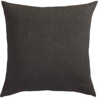 "20"" linon dark grey pillow 
