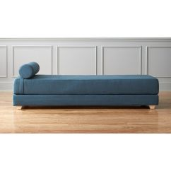 Full Size Sofa Bed Mattress Dimensions Toddler Flip Lubi Blue Daybed Sleeper + Reviews   Cb2