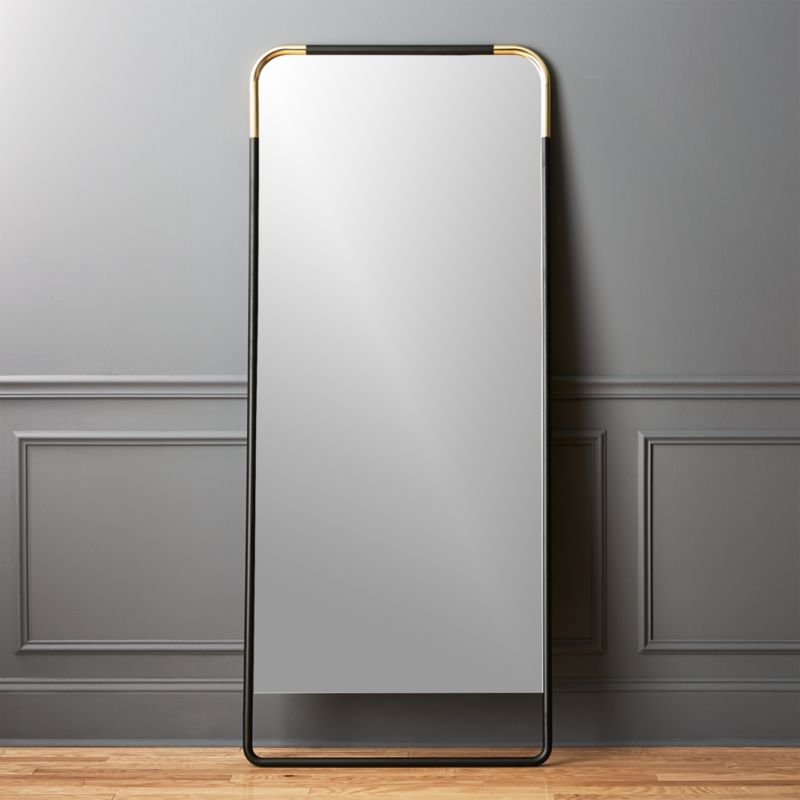 Lucy Brass Floor Mirror 32x76 in view all  Reviews  CB2