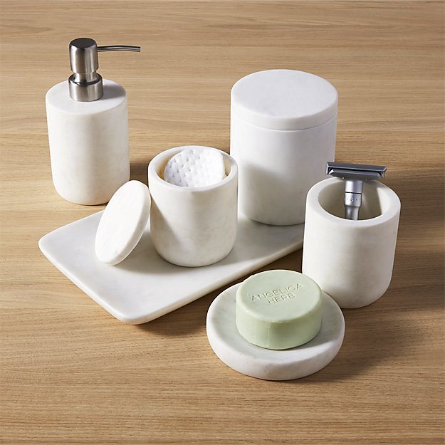 marble bath accessories  CB2
