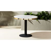 bistro marble outdoor table | CB2