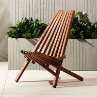 maya wood outdoor chair | CB2