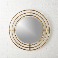 "Orbit Small Round Wall Mirror 32.5"" | CB2"