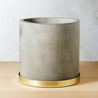 Moda Large Cement Planter | CB2