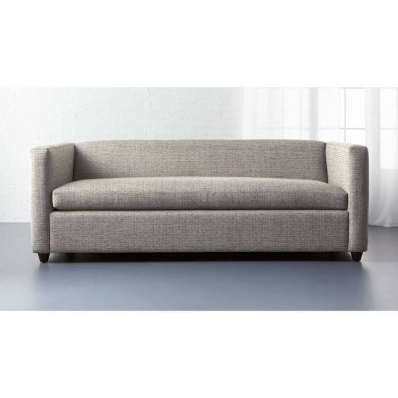 cb2 club leather sofa zooey family bed queen sleeper sofas la z boy kennedy premier ...