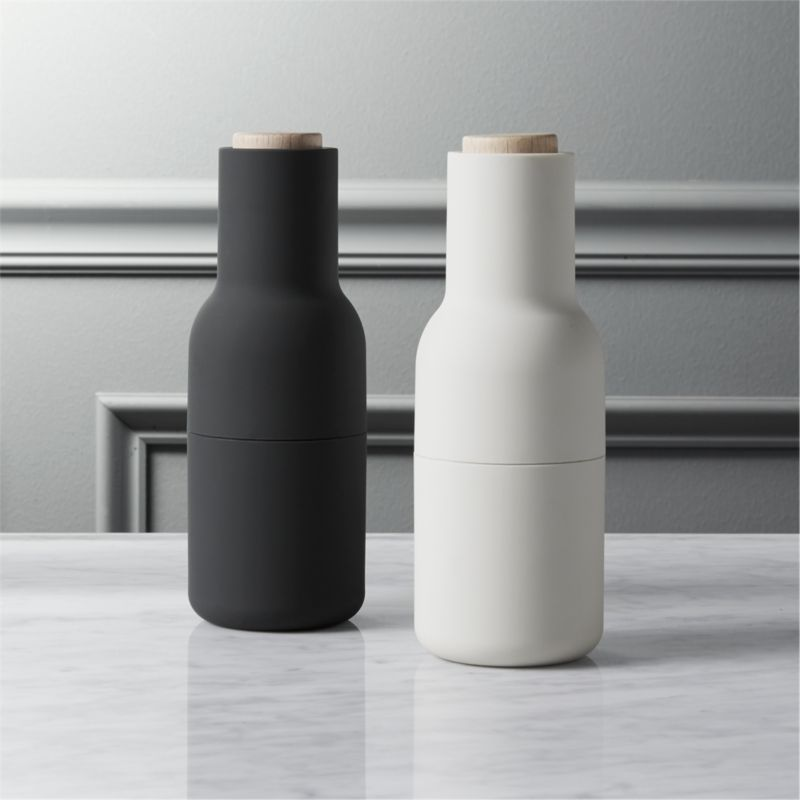 2 Piece Neutral Salt And Pepper Grinder Set CB2
