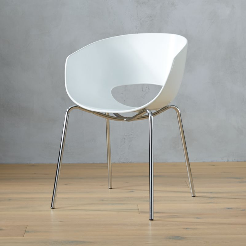 modern sofas sectionals sofa world dundee orbit white arm chair | cb2