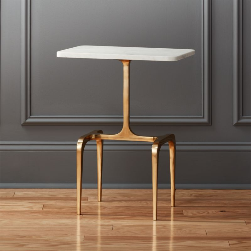 small side table for living room ikea ideas oxford marble | cb2