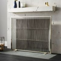 Panes Stainless Steel Fireplace Screen + Reviews | CB2