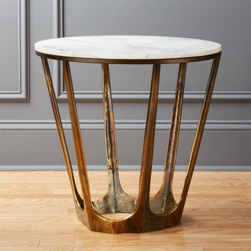 Parker White Marble Side Table  Reviews  CB2