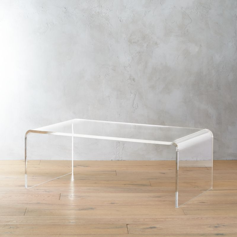 peekaboo acrylic tall coffee table  Reviews  CB2