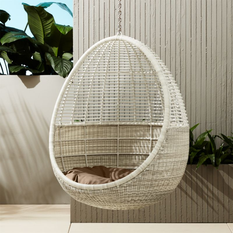 bedroom hanging chair home goods dining chairs pod with cushion + reviews | cb2