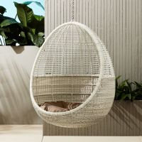 pod hanging chair with cushion | CB2