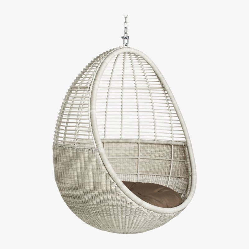 white tufted chair swing tesco pod hanging + reviews | cb2
