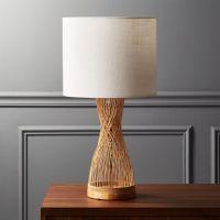 Rattan Table Lamp + Reviews | CB2