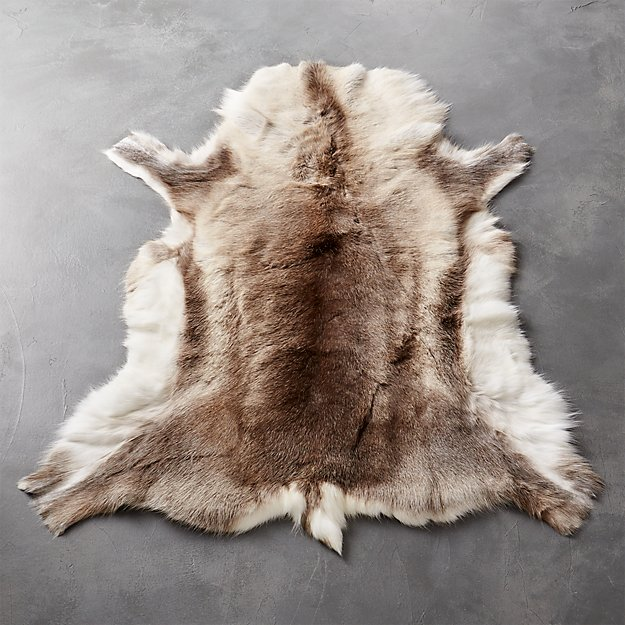 rug runners for kitchen mixers reindeer hide 3'x5' | cb2