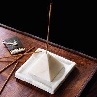 SAIC pyramid incense burner with tray | CB2