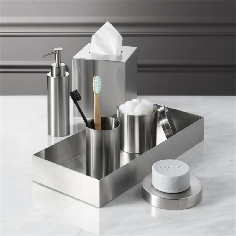 stainless steel bath accessories  CB2