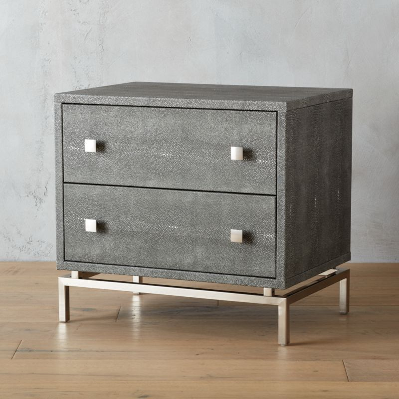 grey modern sofa bed black leather packages embossed shagreen nightstand + reviews | cb2