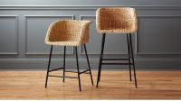 Silas Seagrass Bar Stools | CB2