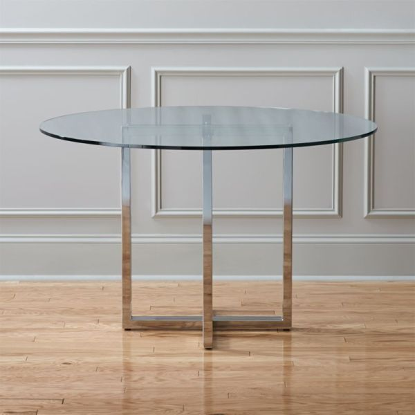 "Silverado Chrome 47"" Dining Table Cb2"