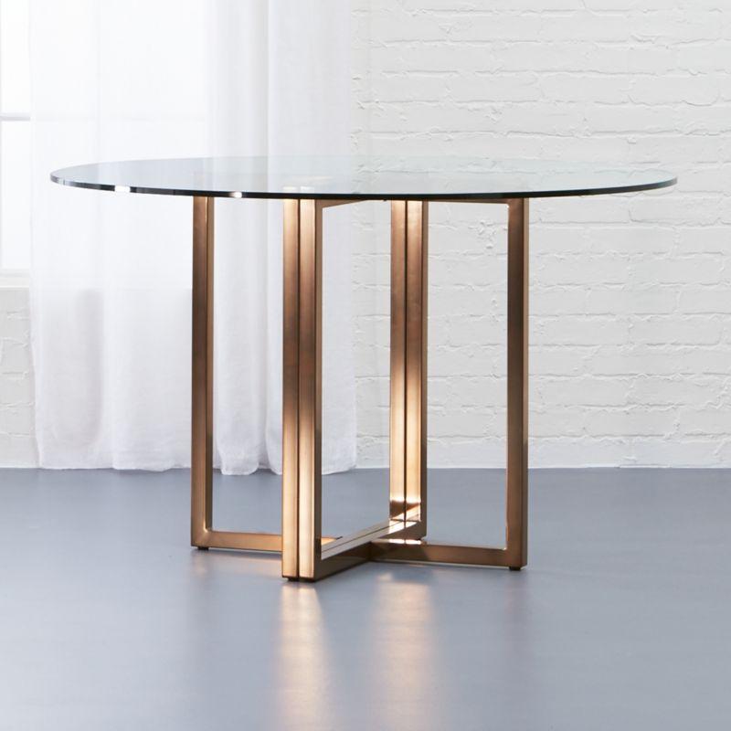 Silverado Brass 47 Round Dining Table Reviews CB2