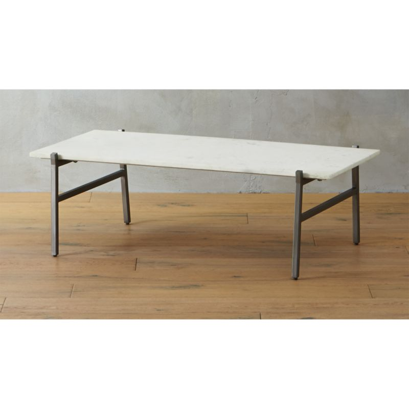 Slab White Marble Coffee Table