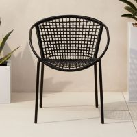 sophia black dining chair | CB2