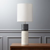 stacked marble table lamp | CB2