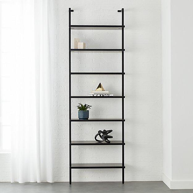 tall narrow kitchen cabinet wallpaper backsplash stairway black 96