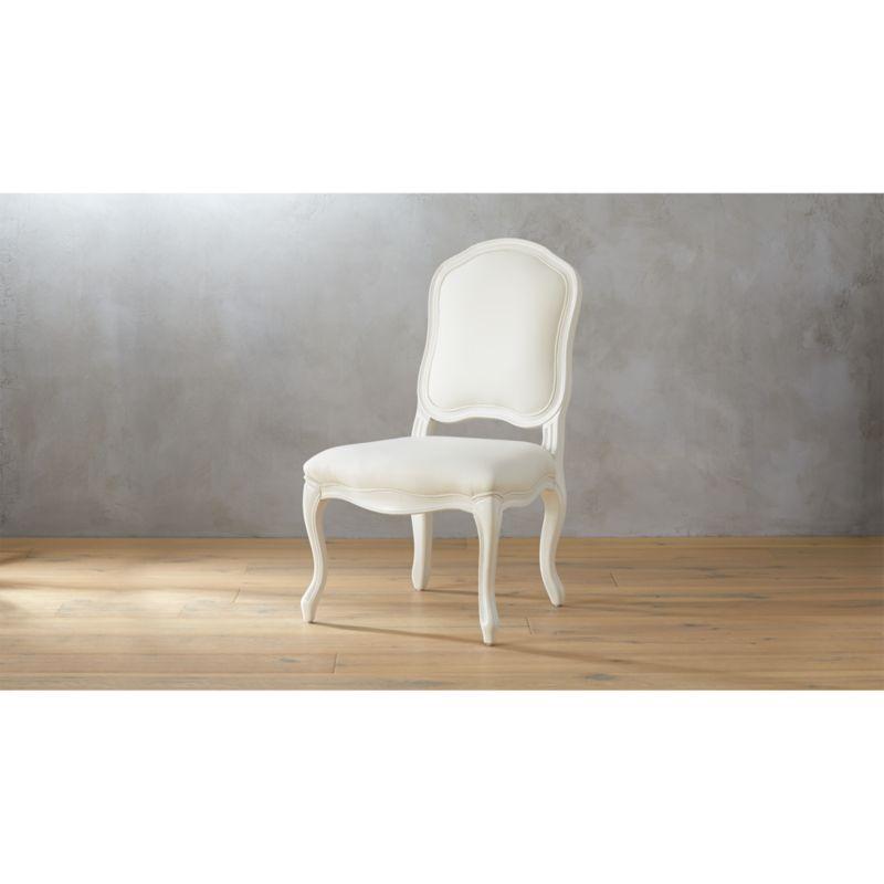 stick around white side chair  CB2