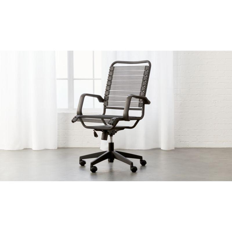 land of nod high chair beige office studio iii + reviews | cb2