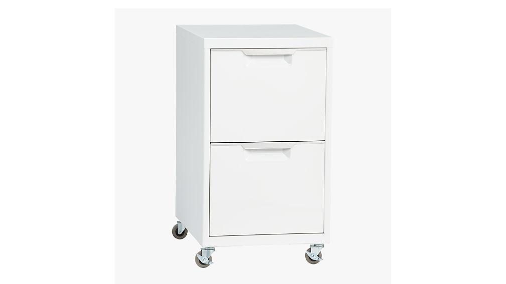 TPS white 2drawer filing cabinet  CB2